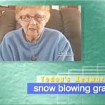 2019年2月5日「snow blowing granny」