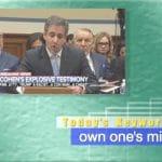 2019年3月1日「own one's mistake」