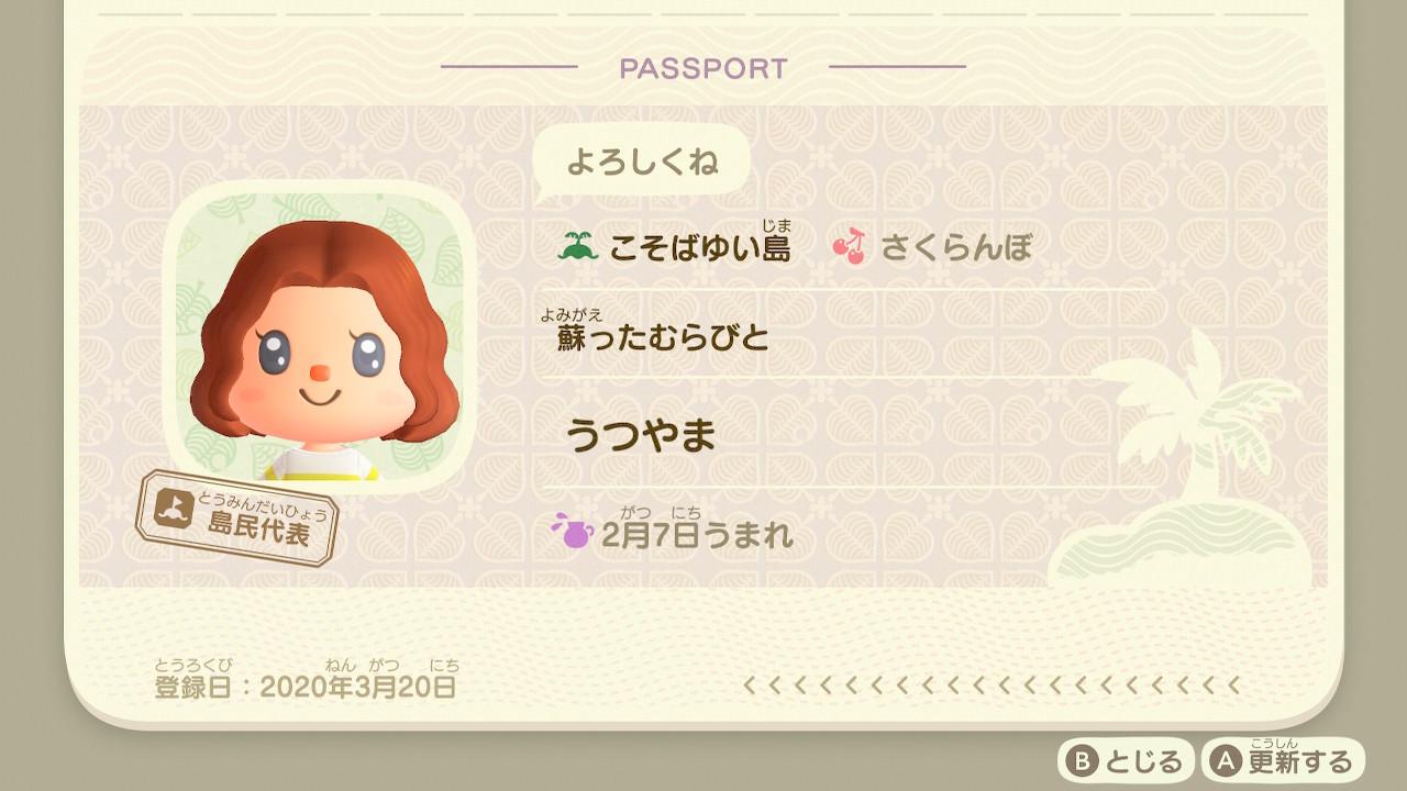 あつ森のパスポート